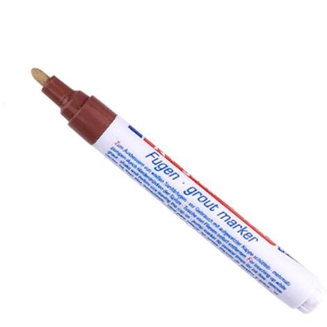 Lechada la reparacion del marcador lechada del azulejo lechada Pen Pen Restaurador Renovar marcador con reemplazo de plumilla Consejo para la lechada del azulejo Lineas azulejo de la pared de suelo Banos Cocina, Brown
