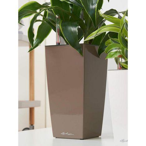 Lechuza Maxi Pot Cube Premium 14 kit Complet Brillant