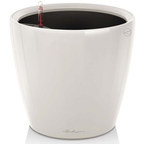 LECHUZA Planter Classico 43 LS ALL-IN-ONE High-Gloss White 16080