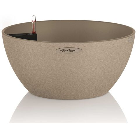 """main image of """"LECHUZA Planter CUBETO Color 30 ALL-IN-ONE Sand Beige 13831 - Beige"""""""