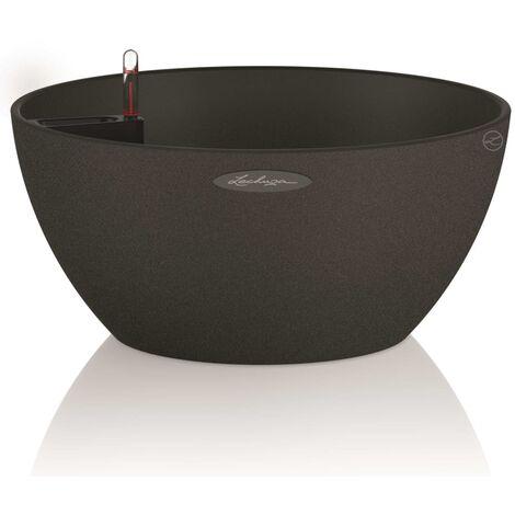 LECHUZA Planter CUBETO Color 40 ALL-IN-ONE Graphite Black 13842
