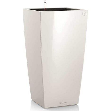 LECHUZA Planter Cubico 30 ALL-IN-ONE High-Gloss Taupe 18214