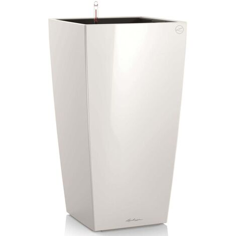LECHUZA Planter Cubico 50 ALL-IN-ONE High-Gloss White 18161