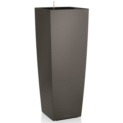 LECHUZA Planter Cubico Alto 40 ALL-IN-ONE Charcoal 18233