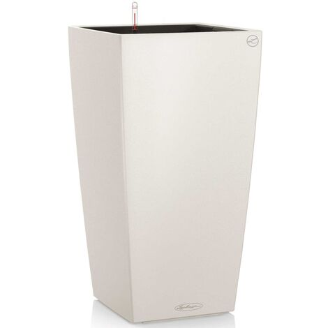 LECHUZA Planter Cubico Color 40 ALL-IN-ONE Slate 13158