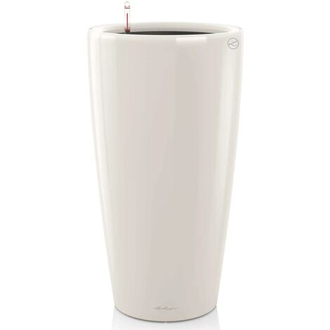 LECHUZA Planter Rondo 32 ALL-IN-ONE Taupe High Gloss 15784