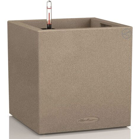Lechuza Pot Canto Stone Cube Beige sable 40 x 40 x 40 cm