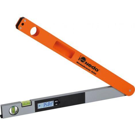 Lecteur d'angle numérique Winkeltronic, Plage de mesure : 0-352 °, Long. des branches 600 mm