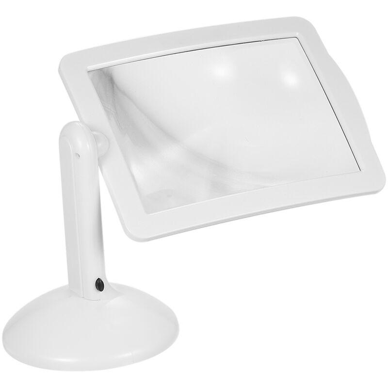 Happyshopping - Lecture pleine page 3 fois loupe lumiere LED cadeau creatif avec lampe lampe de table loupe