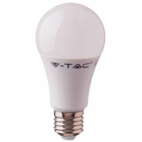 LED 10 Watt Bulb E27 caliente Clase de energía blanco A + luz de la lámpara 806 lúmenes bola V-TAC 4209