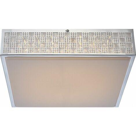 LED 22 vatios de la lámpara de techo de iluminación patrón de cromo EEK A la luz de la lámpara Globo 41615