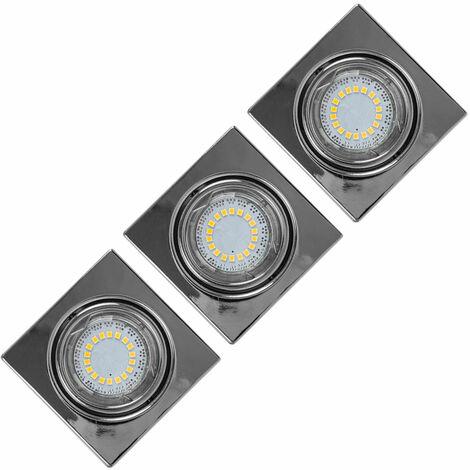 LED 3-Pack Downlight 4,5 W sala de estar sala de vestíbulo Spotlight CRISTAL SUEÑO 2305328
