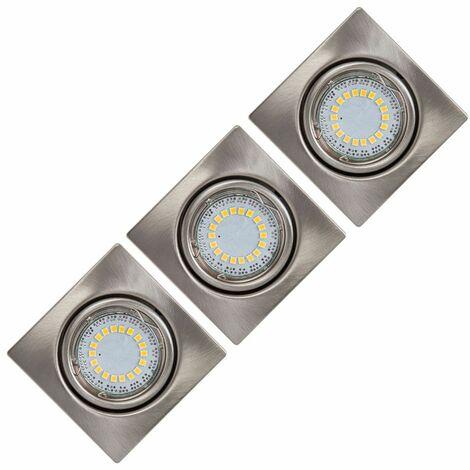 LED 3-Pack Downlight 4,5 W sala de estar sala de vestíbulo Spotlight CRISTAL SUEÑO 2305329
