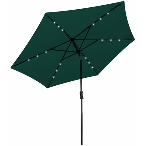 LED 3m Parasol with Lights by Freeport Park - Green