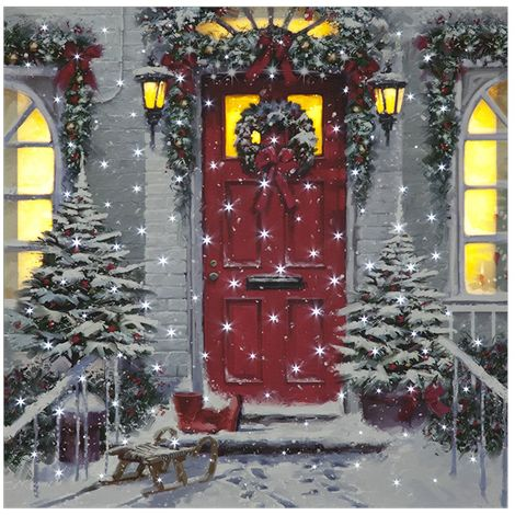 LED 40x40cm Garland Door Canvas