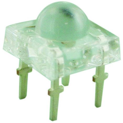 LED 5 mm tipo piraña cuadrado de color amarillo Electro Dh 12.677/5/A/C 8430552122226
