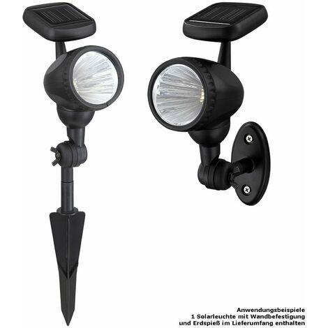 LED al aire libre enchufe de la lámpara de luz solar Jardín Iluminación negro Globo 33026
