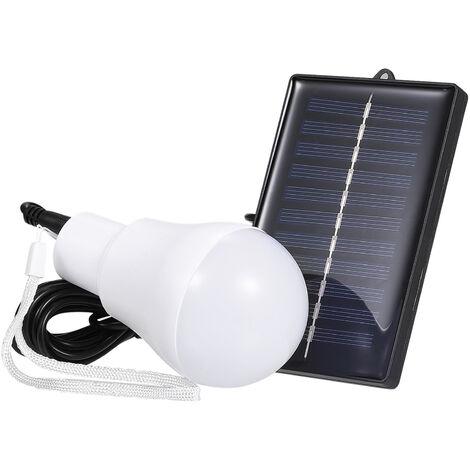 LED alimentadas por energia solar Luz B-ULB portatiles de trabajo Lampara de la noche luces recargables H-Anging de Inicio de excursion la tienda de lectura camping, blanca