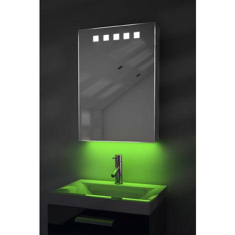 LED Ambient Bathroom Mirror Cabinet With Sensor & Internal Shaver Socket k259G