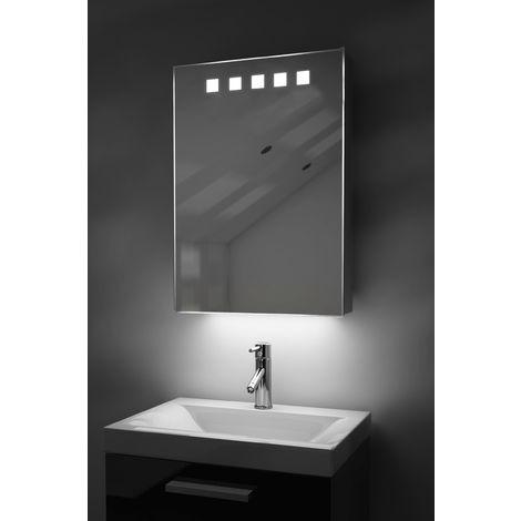 LED Ambient Bathroom Mirror Cabinet With Sensor & Internal Shaver Socket k259W