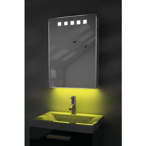 LED Ambient Bathroom Mirror Cabinet With Sensor & Internal Shaver Socket k259Y