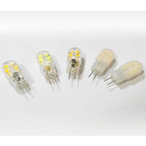 LED Ampoule,15W Ampoules Halogènes Équivalentes,Ampoule LED G4 2W Économie Pour Les Ampoules de Hotte,AC/DC 12V 130LM 3000K