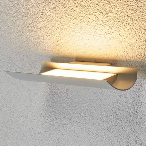 DEL Extérieur Lampe Murale Simona Acier inoxydable Rectangulaire lampenwelt intemporel murale éclairage extérieur