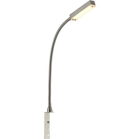 LED Applique Murale à intensité variable 'Olof' en métal pour chambre à coucher
