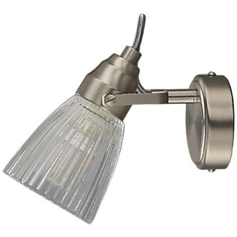LED Applique Murale \'Kara\' en verre pour salle de bain -