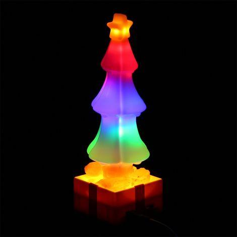 LED arbol de navidad de la lampara de sal, iluminacion que cambia de color