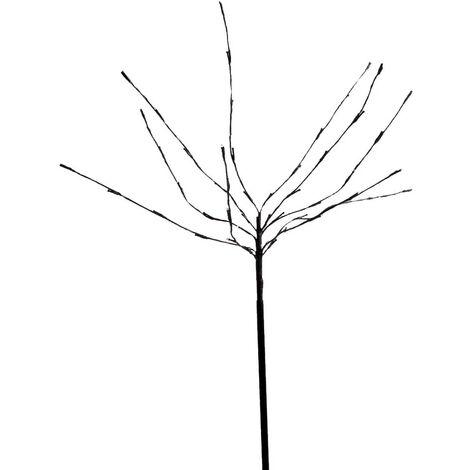 LED arbre éclairage extérieur décoration de jardin piquet de sol prise lampe noire 100 cm