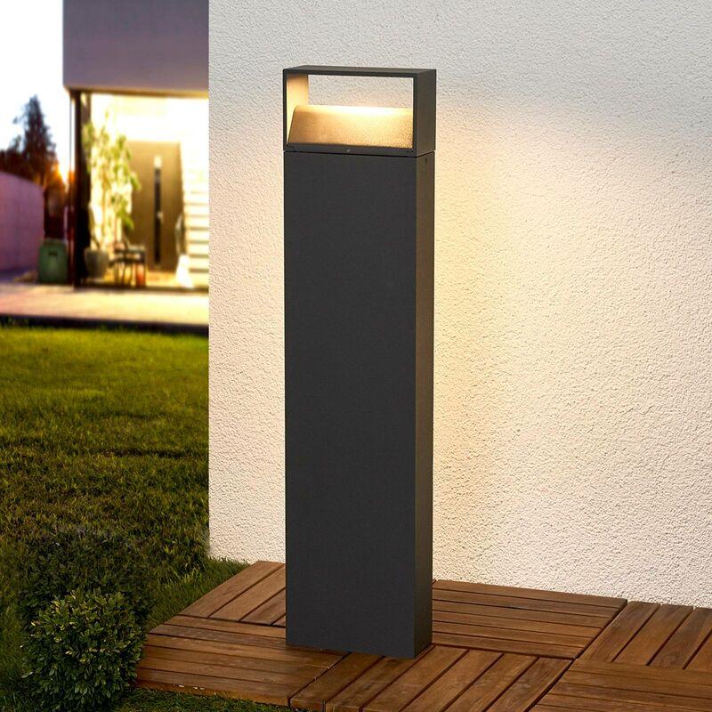 Dunkelgraue LED-Pollerleuchte Kjella - LAMPENWELT