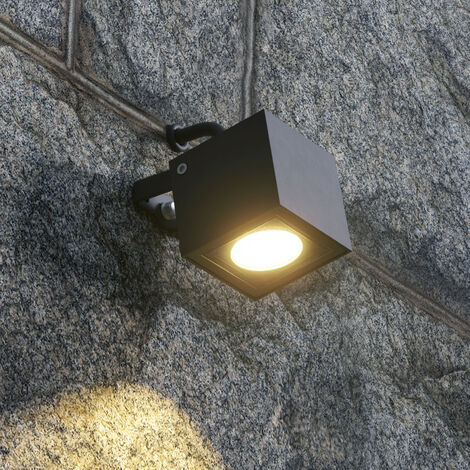 LED Akku Tischleuchte Sheratan in Schwarz mit geriffeltem Schirm IP54