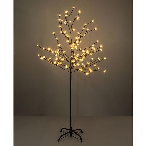 LED Außenleuchte Baum Viridis Ii mit Blüten Schwarz, Klar, Braun