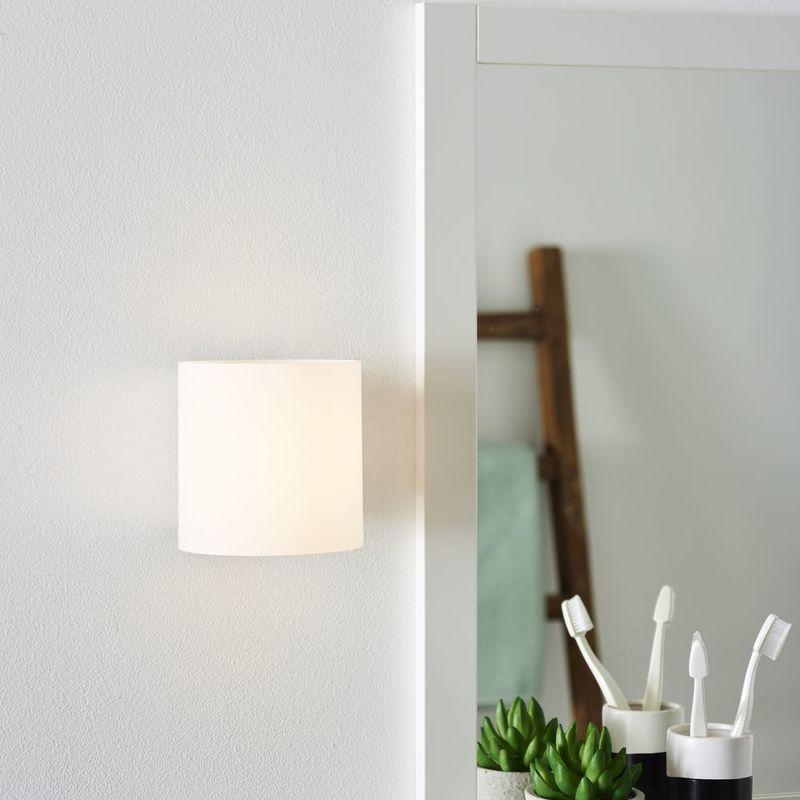 LED Badezimmer Wandleuchte Jelte, chrom-matt, Glas, IP44, 3000K EEK A+  [Spektrum A++ bis E]