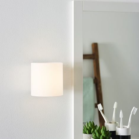 LED Badezimmer Wandleuchte Jelte, chrom-matt, Glas, IP44, 3000K EEK ...