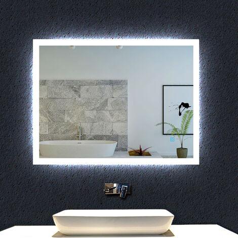 LED Badspiegel 50-120 cm Touch Beschlagfrei LED Spiegel Wandspiegel Lichtspiegel