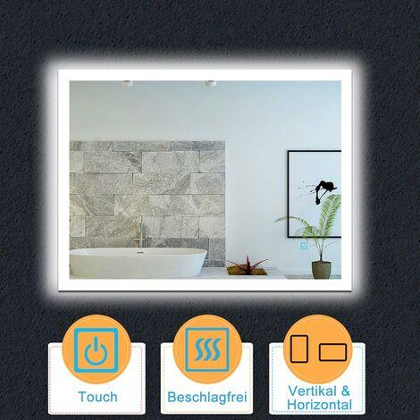 LED Badspiegel 60-120 cm Touch Beschlagfrei LED Spiegel Wandspiegel Lichtspiegel