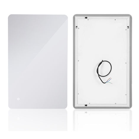 LED Badspiegel Sensor Lampe Wandspiegel Anti-Beschlag spiegel 70*50cm