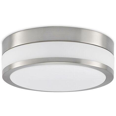 LED bathroom ceiling lamp Flavi, matt nickel