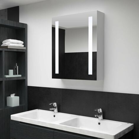 LED Bathroom Mirror Cabinet 50x13x70 cm