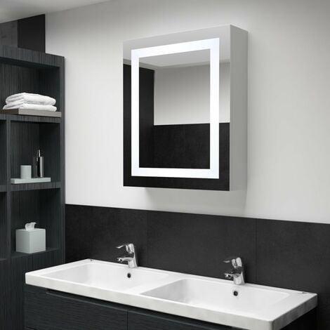 LED Bathroom Mirror Cabinet 50x13x70 cm