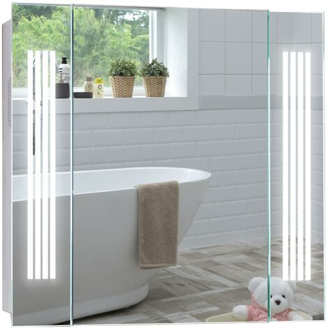 LED Bathroom Mirror Cabinet 60cm(H) x 65cm(W) x 13cm(D) - Various Styles Available