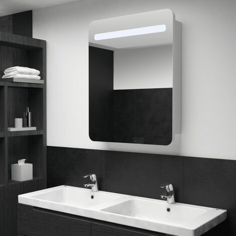 LED Bathroom Mirror Cabinet 60x11x80 cm