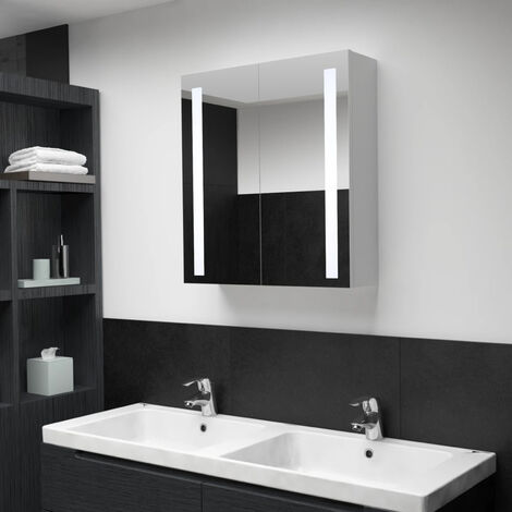 LED Bathroom Mirror Cabinet 62x14x60 cm