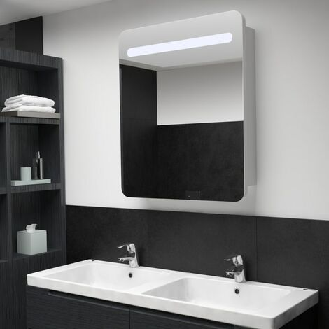 LED Bathroom Mirror Cabinet 68x11x80 cm - White
