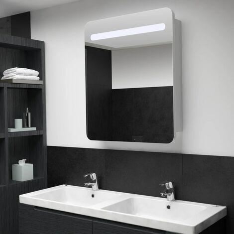 LED Bathroom Mirror Cabinet 68x11x80 cm - White