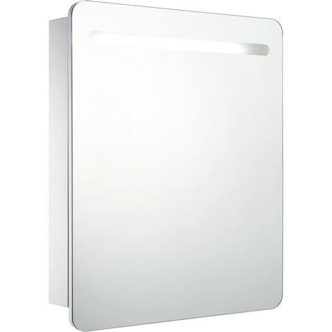 LED Bathroom Mirror Cabinet 68x9x80 cm