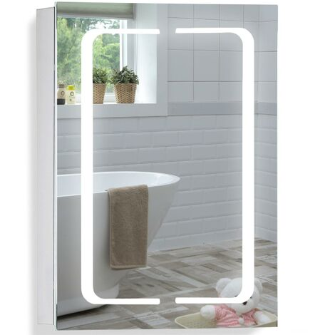 LED Bathroom Mirror Cabinet 70(H) x 50cm(W) x 15cm(D) - Various Styles Available