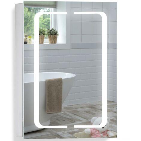 LED Bathroom Mirror Cabinet 70(H) x 50cm(W) x 15cm(D) - Various Styles Available